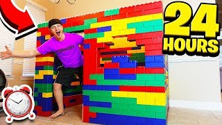 24 HOUR GIANT LEGO HOUSE CHALLENGE!