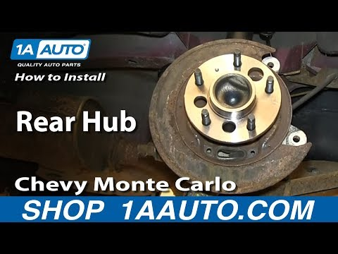 How To install Replace Rear Hub NO ABS 2000-07 Chevy Monte Carlo - 1A Auto Parts  - Fodi-MjgPcY -