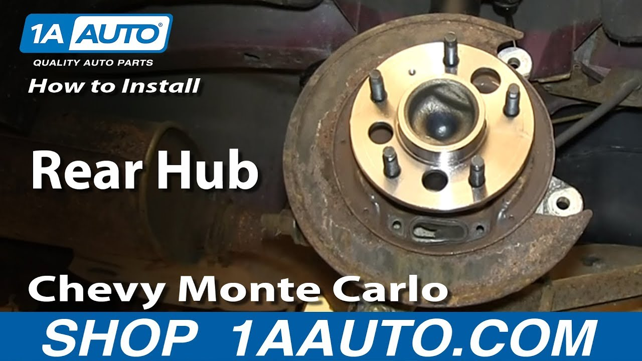 How To Replace Wheel Bearing Amp Hub 00 05 Chevy Monte Carlo