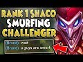 #1 SHACO WORLD MAKES CHALLENGER LOOK LIKE A JOKE! S9 SHACO JUNGLE GAMEPLAY! - League of Legends