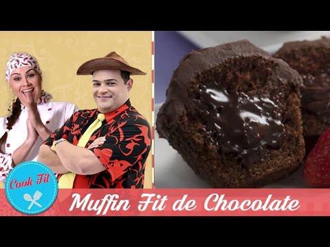 MUFFIN FIT DE CHOCOLATE| Cook Fit | Matheus Ceará E Dani Iafelix