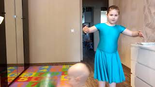 Урок танца медленный вальс. Правый квадрат.