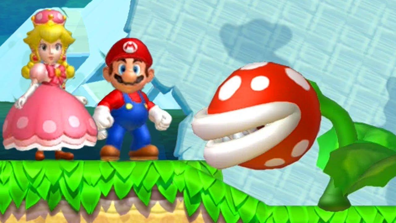 New Super Mario Bros U Deluxe Co Op Walkthrough 2 Players Part 1 Youtube
