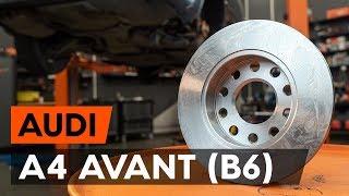 Hvordan bytte bak bremseskiver der på AUDI A4 B6 (8E5) [AUTODOC-VIDEOLEKSJONER]