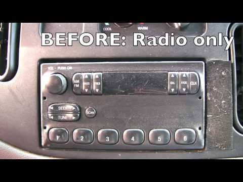 Installing a CD Player 1997 E150 Ford Van  YouTube