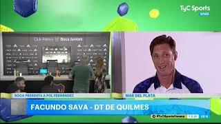 Sava, ilusionado con su Quilmes: