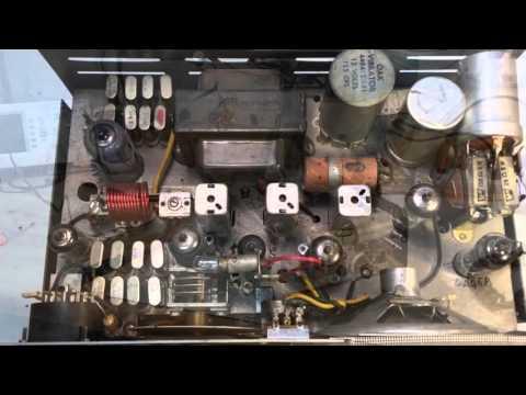 Lafayette HE 20C Vintage Tube Type CB Radio