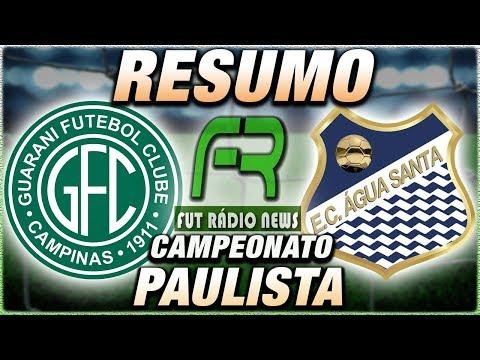Guarani x Água Santa Ao Vivo l Campeonato Paulista l Narração