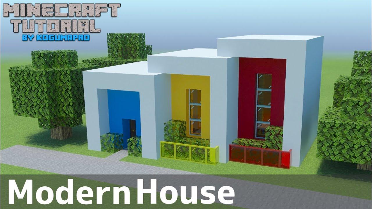 【マインクラフト】カラフルでかわいいモダンハウスの作り方【マイクラ建築講座】
