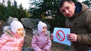 Папа и девочки - смешные истории про правильное поведение для детей