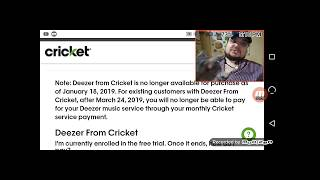CRICKET WIRELESS LG Stylo 3 Free & Deezer Goes Away