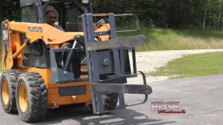 EDGE Hydraulic Pallet Forks Rotate 180 Degrees from the Cab. Thumbnail