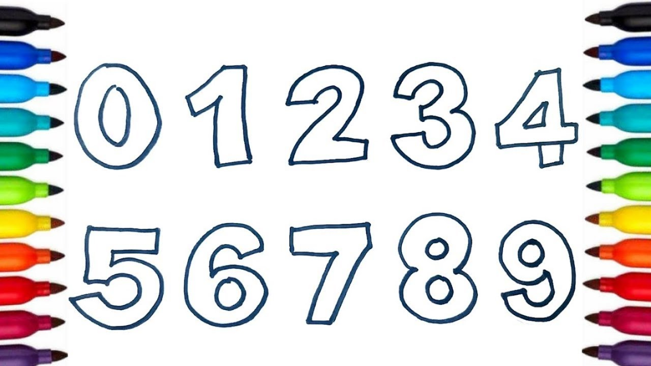 Learn Color And Numbers From 0