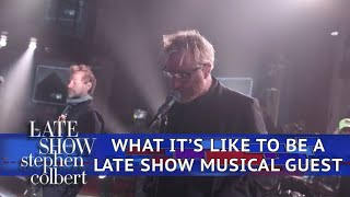 The National Takes You Backstage At The Late Show