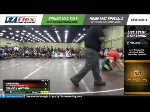 195 Dan Baker Oklahoma Outlaws Red vs Brandon Whitman Michigan Blue 8450792104