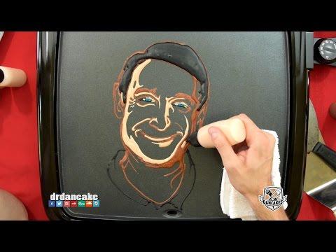 Robin Williams Pancake Art