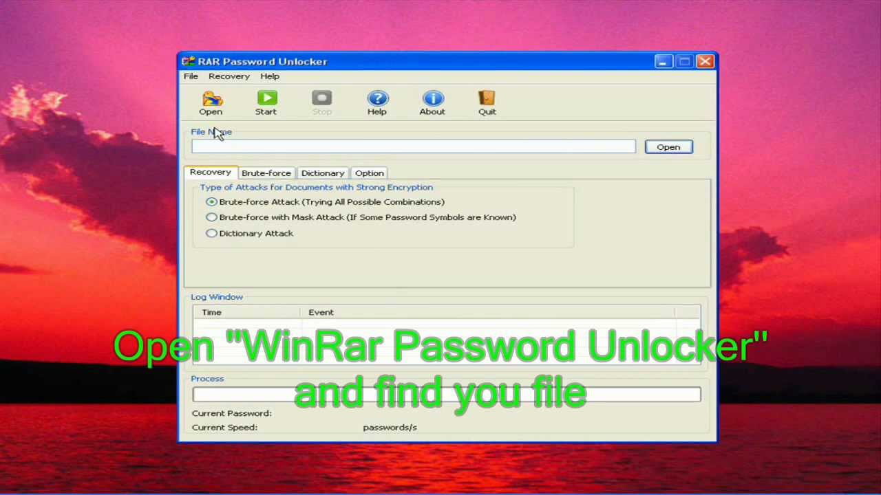 How to crack winrar password protected files in simple steps?