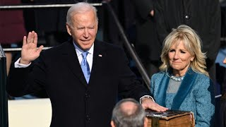video: Inauguration Day 2021 news: 'Democracy has prevailed' says Joe Biden as he is sworn in as 46th US President - live updates