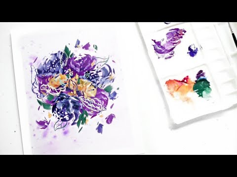 Painting Peonies And Getting Back In The Swing Of Things · Gouache Speed-Painting