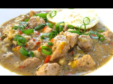 Pork Loin and Hominy Stew – Holy Trinity Veggies – PoorMansGourmet