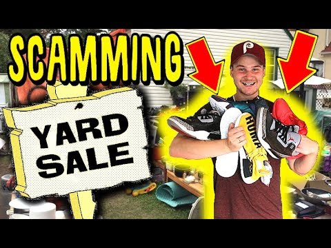 WHAT WILL $100 BUY YOU AT A YARD SALE!  CRAZY YARD SALE SNEAKER SHOPPING PICKUPS!!