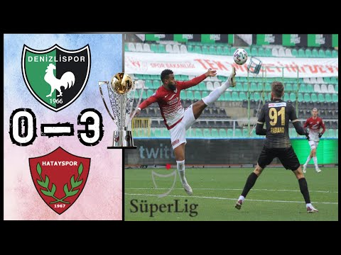 Denizlispor 0 - 3 Hatayspor | Süper Lig | Maç Özeti