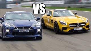 Nissan GTR R35 vs Mercedes AMG GT S - DRAG RACE
