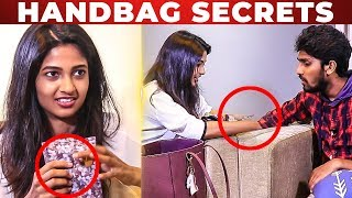 PEE SAFE is Essential – Keerthi Pandian Handbag Secrets Revealed | Whats Inside the Handbag