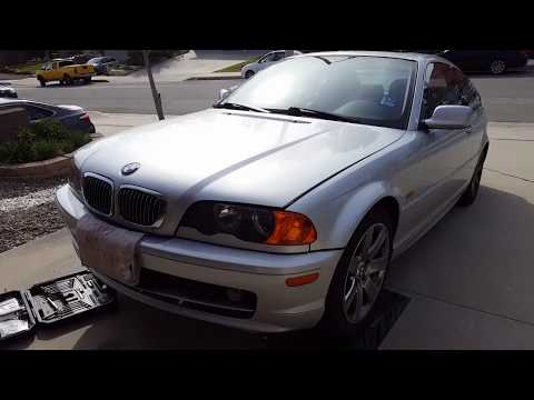 BMW 323 coolant leak and cheap repair. Radiator coolant overflow tank