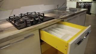 MR Kitchen: Видео-обзор кухни I Желтая ЛДСП (МЦ Аквилон)