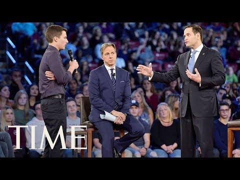 Florida Shooting Survivor Confronts Marco Rubio: 'More NRA Money?' | TIME