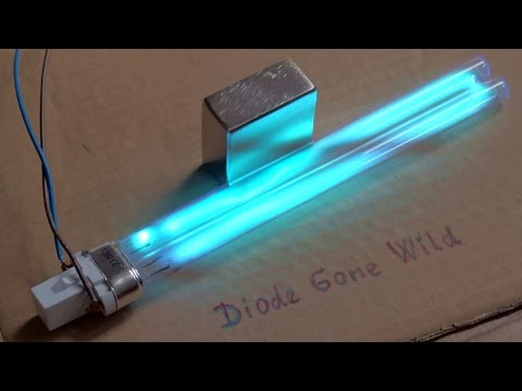 Neodymium Magnet vs. UVC Germicidal Tube (Death Ray Lamp)