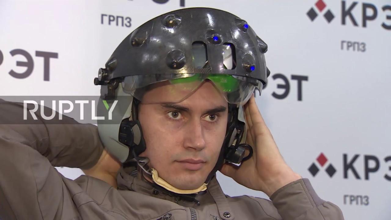 4449d43dd5e Russia  Gear up! VR-based aviator helmet tested in Ryazan - YouTube
