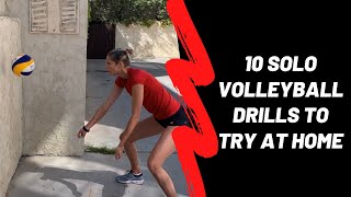 10 Solo Volleyball Drills To Try At Home