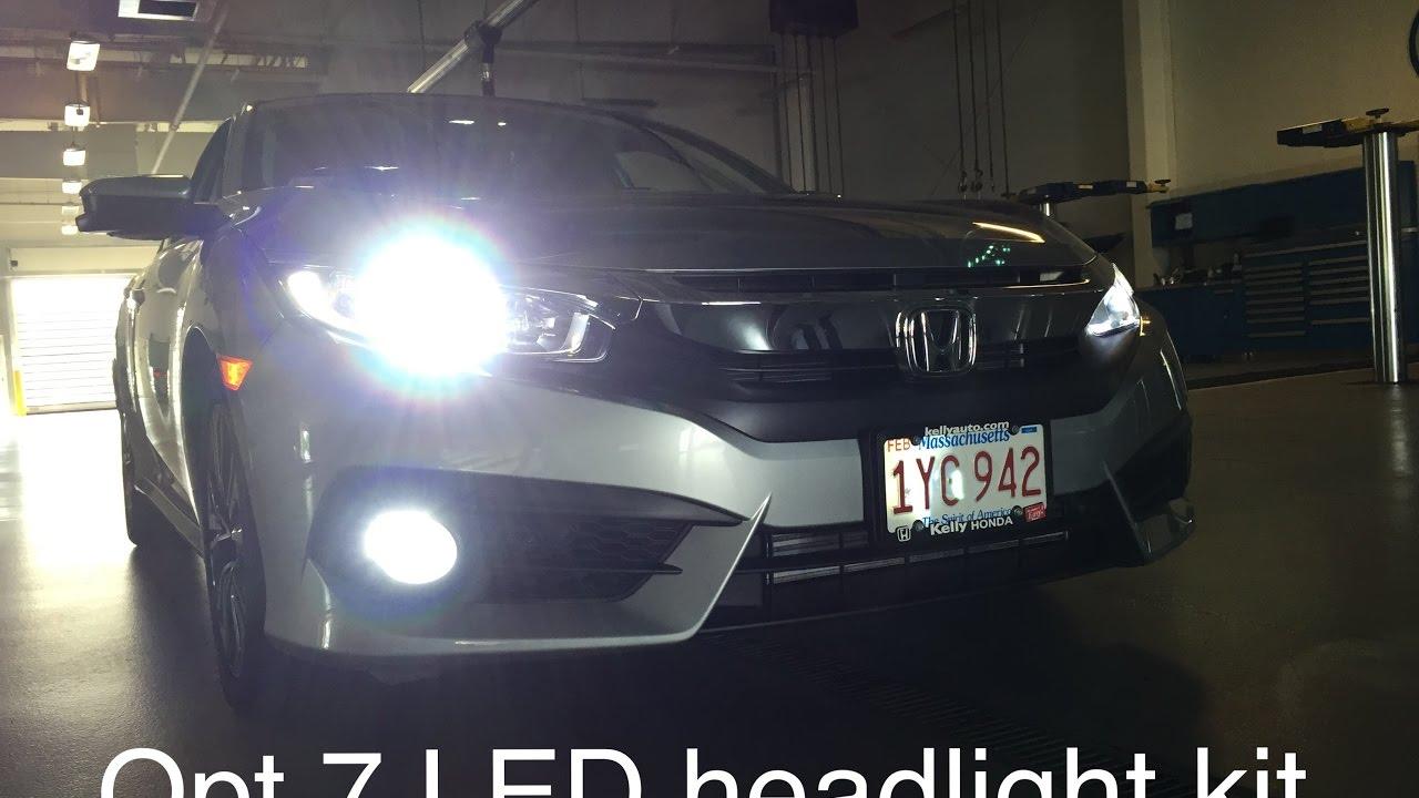 Opt 7 LED Headlights (2016 Honda Civic) - YouTube