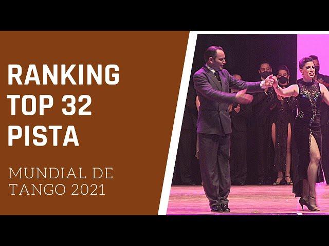 TOP 32 puntaje ranking parejas tango pista MUNDIAL de Tango 2021