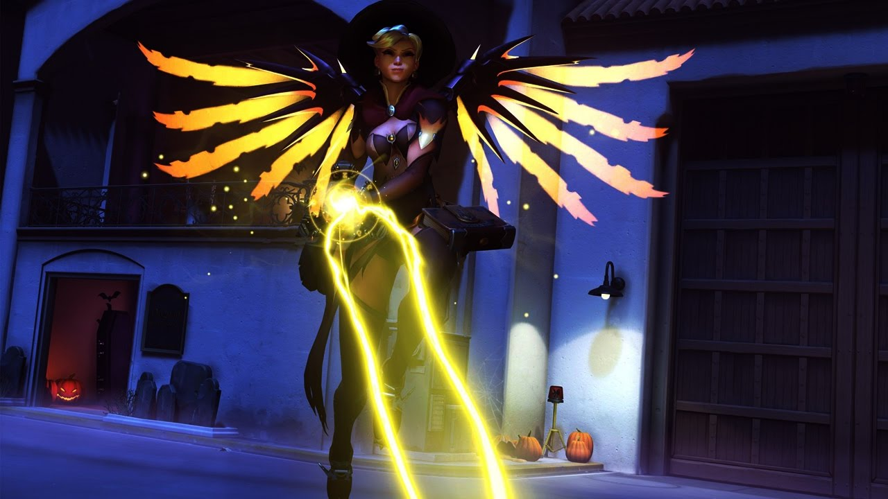 Mercy - Witch - Overwatch Halloween Legendary Skin Showcase - YouTube