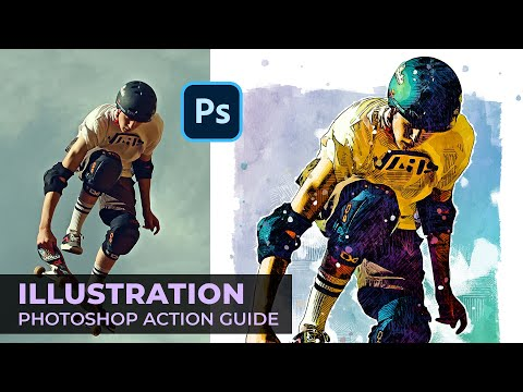 Illustration Sketch Painting Photoshop Action Guide