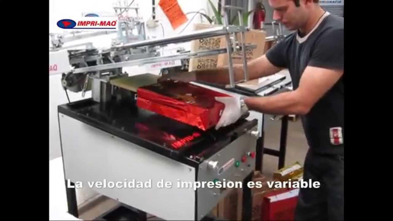 Maquina de serigrafia para imprimir bolsas impri - Maquinas para pintar ...