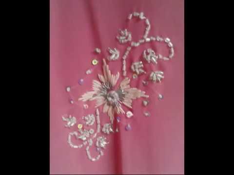 Hand Embroidery Bead Work Saree Youtube