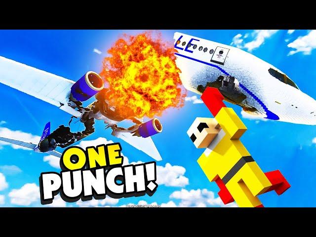ONE PUNCH MAN Crashes a PLANE In TEARDOWN - Teardown Mods