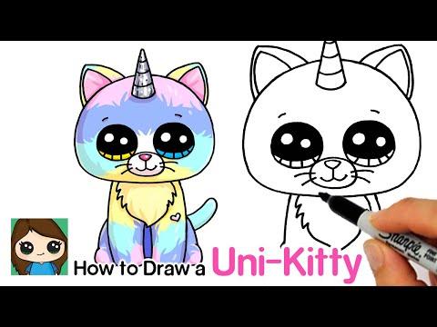 How To Draw A Unicorn Kitty Easy | Beanie Boos