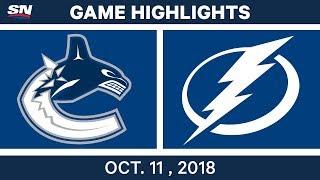 NHL Highlights | Canucks vs. Lightning - Oct. 11, 2018