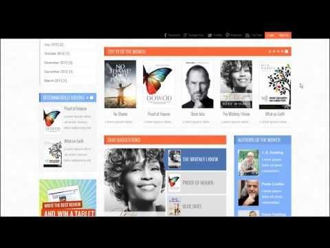 Joomla 3.x : JM Free Books, Responsive Template