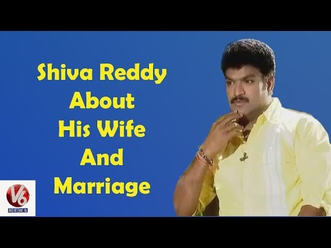 Shiva Reddy About His Wife And Marriage  || V6 Exclusive Interview