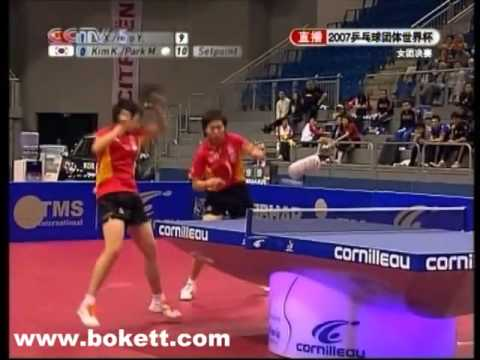 Guo Yue,  Li Xiao Xia vs.  Kim Kyung Ah,  Park Mi Young World Cup Table Tennis 2007