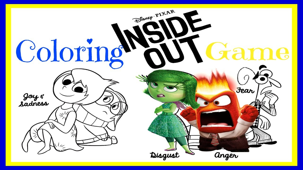 Disney coloring inside out - Inside Out Coloring Inside Out Characters Disney Games For Children