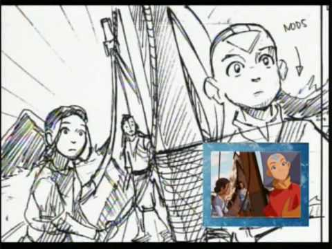 Original Animatic Storyboard - Bato Of The Water Tribe part 2 - YouTube - anime storyboard