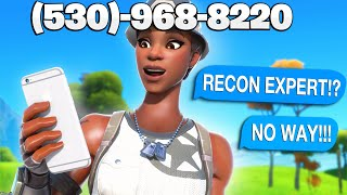 I put my Phone Number on the Most Rare Fortnite Skin 2... (Funny Reactions)