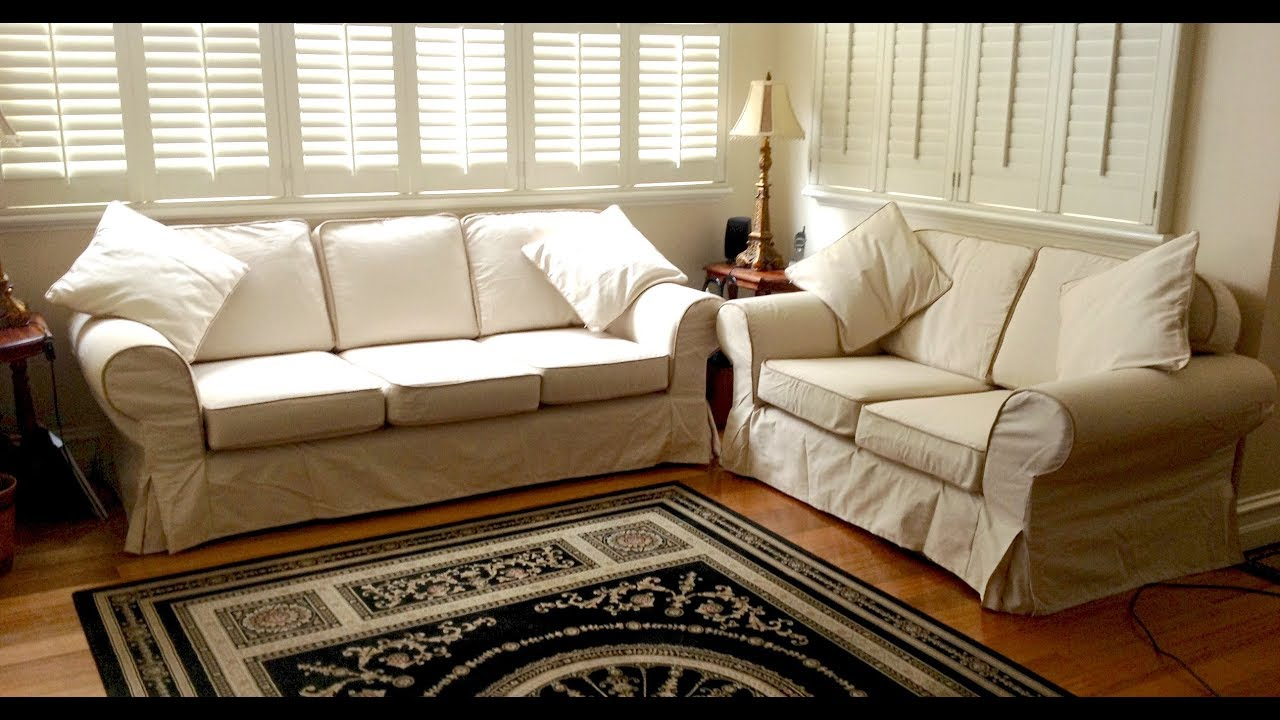 3 Piece Sectional Sofa Slipcovers - YouTube